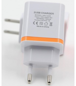2 USB зарядное устройство 2.1A / 5V